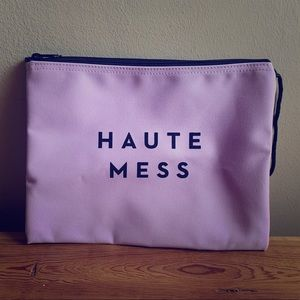 """Handbags - """"Haute Mess"""" Travel Pouch in baby pink"""